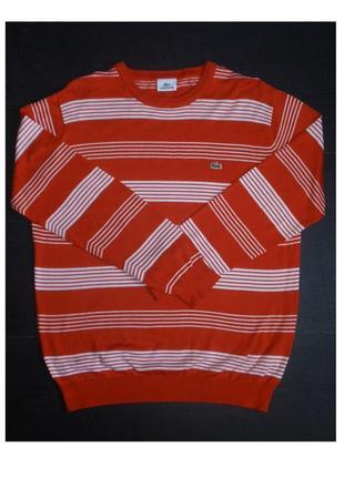 Хлопковый джемпер lacoste свитер