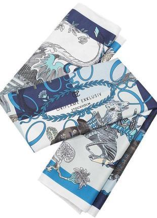 Шарф платок с декоративным кольцом sandhamn, эксклюзив от орифлейм, 90х90 см.