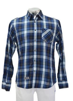 Мужская рубашка  в клетку tom tailor. код 199