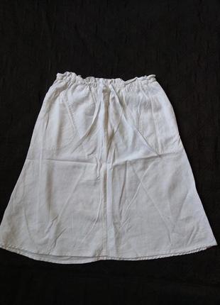 Стильная юбочка лен