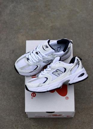 Хит 2020 года! женские кожаные кроссовки new balance 530 white silver белого цвета 😍