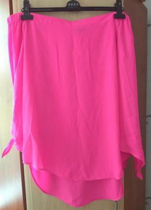 Женская яркая блузка с открытыми плечами new look