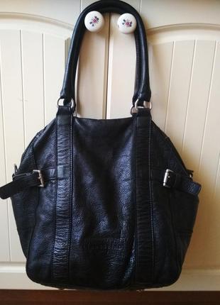 Большая кожаная сумка мешок liebeskind berlin