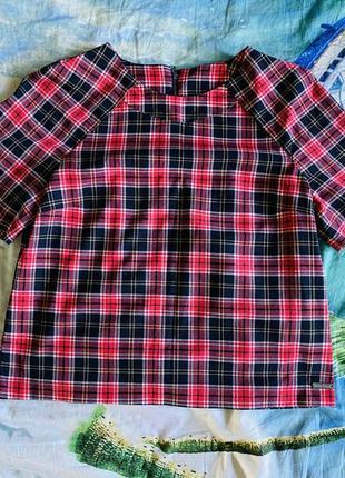 Блуза футболка в клетку