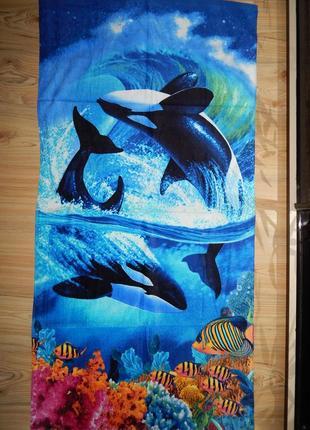 Пляжное полотенце отличного качества.100% коттон.