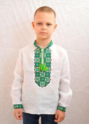 Льняная вышиванка на мальчика