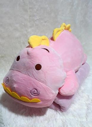 Плед-мягкая игрушка 3 в 1 динозаврик