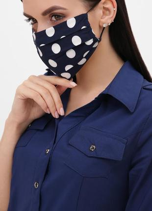Защитная маска в горох