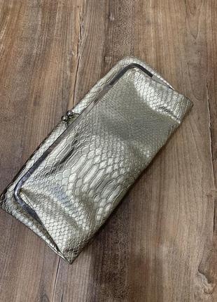 Клатч сумочка золотой складывается new look