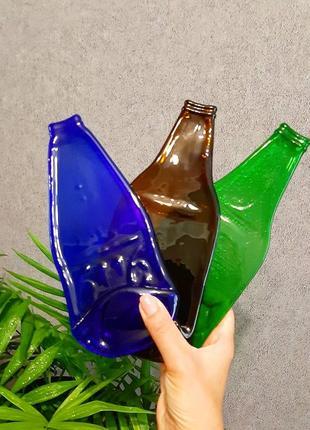 Пивная тарелка из бутылки