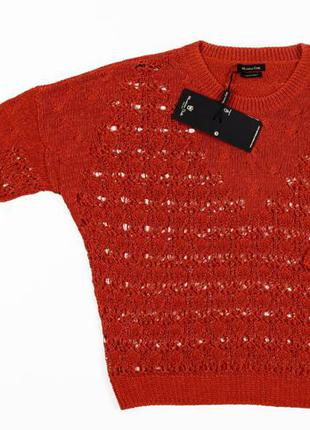 Ажурный свитер massimo dutti