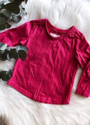 Розовая футболка (кофта) с длинными рукавами