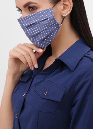 Защитная маска цвета джинс
