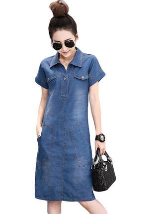 New look шикарное платье - рубашка . джинс - m - l