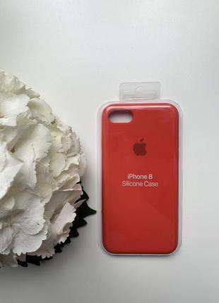 Чехол силиконовый для iphone 7/8 красного цвета silicone case