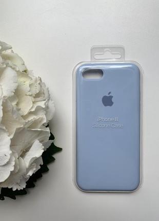 Чехол для iphone 7/8 голубого цвета silicone case