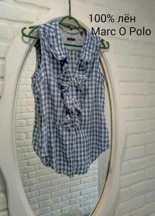 Льняная майка блузка marc o polo лён 100%