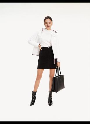 Стильна базова спідниця tommy hilfiger юбка вельветовая