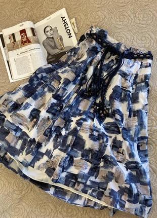 Яркая юбка миди с поясом в оригинальный принт gerry weber ♛