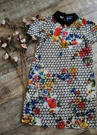 Свободное прямое платье от atmosphere принт цветы легкое летнее