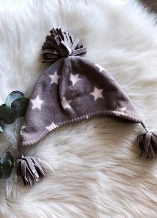 Детская мягкая шапочка со звёздочками