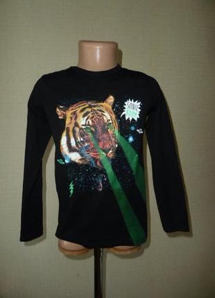 Реглан с тигром на 4-6 лет от h&m, сделан в бангладеш