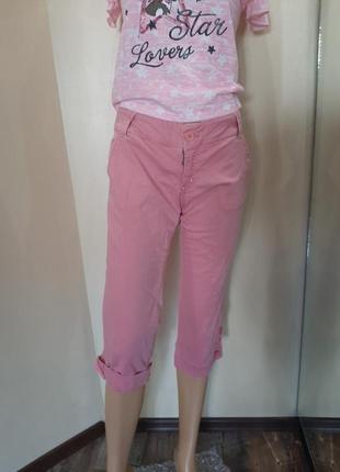Бриджи розовые летние  шорты