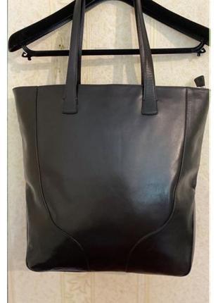 Кожаная сумка шоппер bally