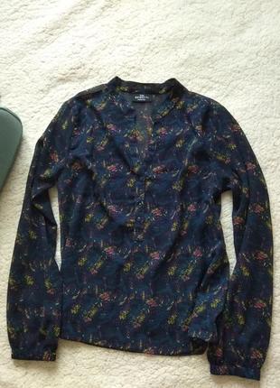 Шифотовая рубашка блуза