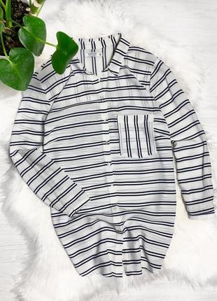 Рубашка легкая в полоску