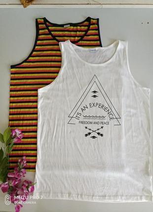 Качественная котоновая футболка майка от немецкого бренда smart fit, l