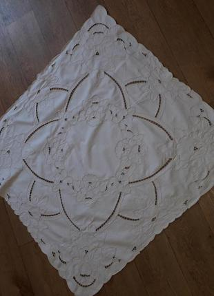Скатерть наперон вышивка ришелье
