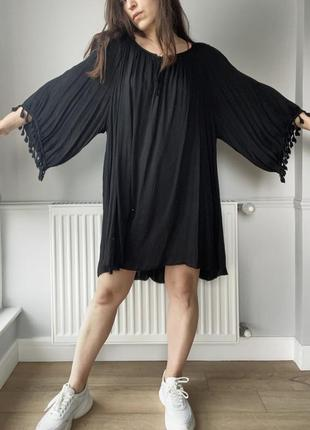 Чёрное, летящее легкое платье , на пляж, отдых