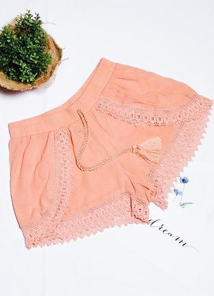 Легкие шорты кружевные, женские шорты повседневные, персиковые шорты, сильные шорты