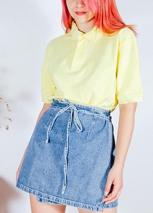 Женская футболка, футболка-поло желтая