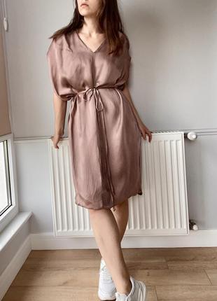 Летнее платье-трансформер цвета чайной розы