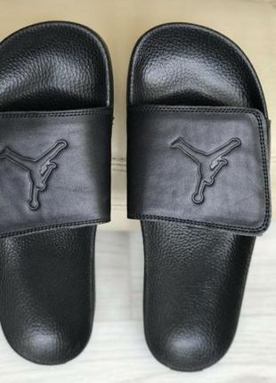 Осталось две пары 44 и 45 размер.распродажа.кожаные мужские шлепанцы jordan.кожаные3 фото