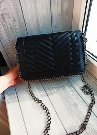 Крутая сумка кросбоди в стиле шанель