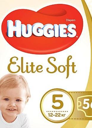 """Подгузники """"elite soft"""" 5 (12-22кг, 56 шт) - huggies"""