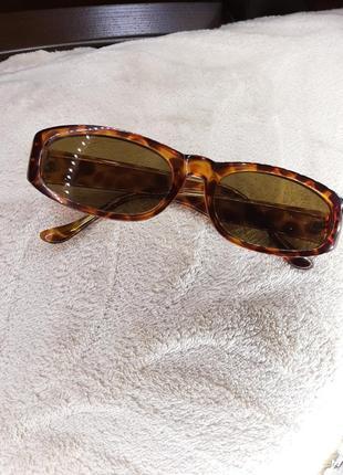 Крутые винтажные очки с леопардовым принтом