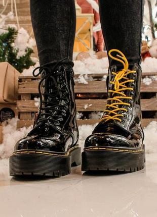 Ботинки dr.martens fur (лак)