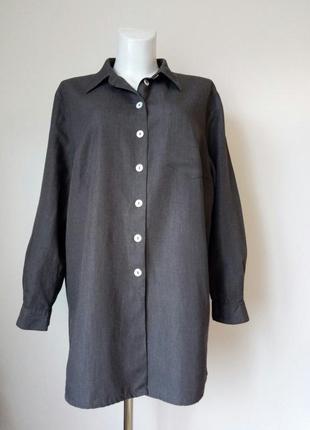 🌿отличная красивая длинная рубашка от class international