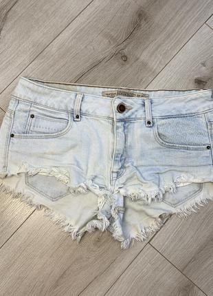 Короткие джинсовые шорты zara