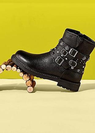Geox eclair -  кожаные комбат ботинки для девочек