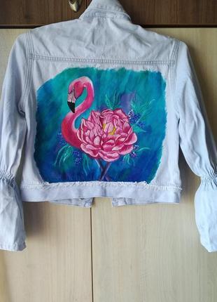 Жинсовая куртка, куртка с рисунком, джинсовка, ручная роспись, джинсовка с рисунком,