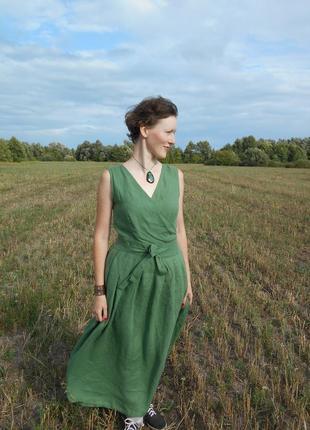 Льняное платье в пол от @ot_pechatky