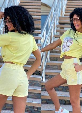 Шорты спортивные брендовые желтые, лимонные