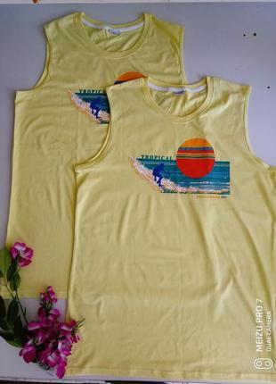 Яркая натуральная майка футболка от немецкого бренда smart fit l