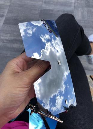 Одни женские стильные зеркальные солнцезащитные очки asos серебро серебряные