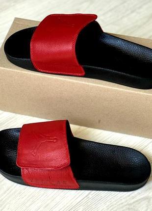 Осталось две пары 44 и 45 размер.распродажа.кожаные мужские шлепанцы jordan.кожаные8 фото